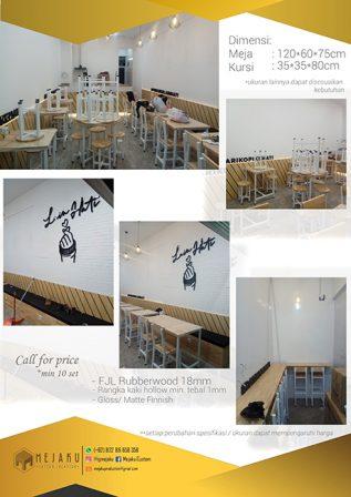 Bikin Meja Cafe Custom Pekabaru
